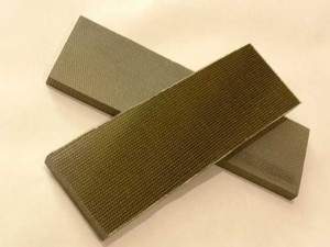 Micarta green canvas 6,5x40x120 mm, sztuka